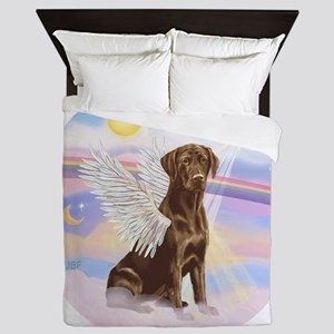 ORN - Clouds - Lab Angel (Choc) Queen Duvet
