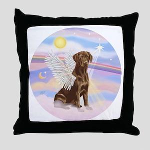 ORN - Clouds - Lab Angel (Choc) Throw Pillow