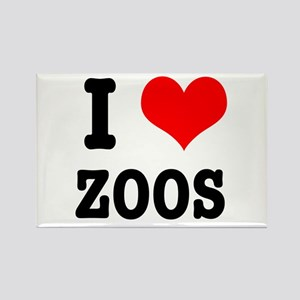 I Heart (Love) Zoos Rectangle Magnet