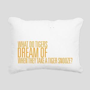 Tiger Snooze Rectangular Canvas Pillow