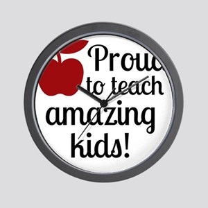 Proud Teacher Wall Clock
