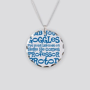 Goggles Necklace Circle Charm