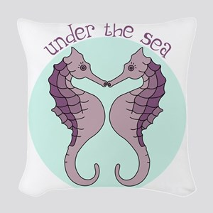 Under The Sea Woven Throw Pillow