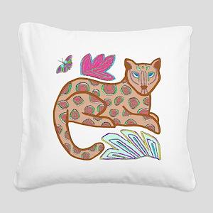 JAGUAR Square Canvas Pillow