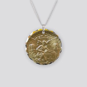 Texas Independence Centennia Necklace Circle Charm