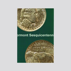 Vermont Sesquicentennial Half Dol Rectangle Magnet