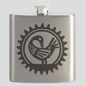 Sankofa Bird Flask