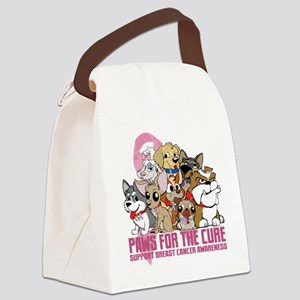 Breast Cancer Paws for the Cure Canvas Lunch Bag