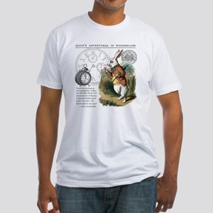 The White Rabbit Alice in Wonderlan Fitted T-Shirt