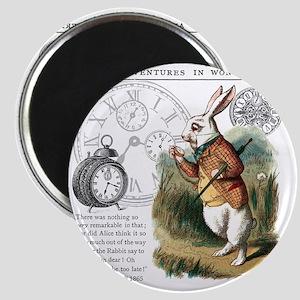 The White Rabbit Alice in Wonderland Puzzle Magnet