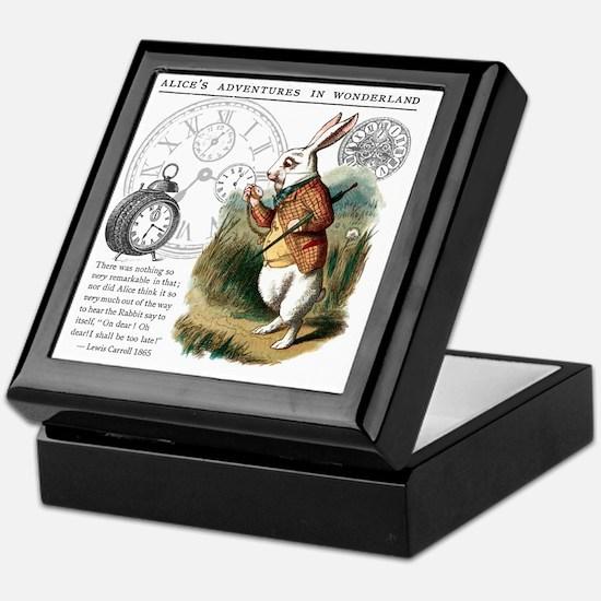 The White Rabbit Alice in Wonderland  Keepsake Box