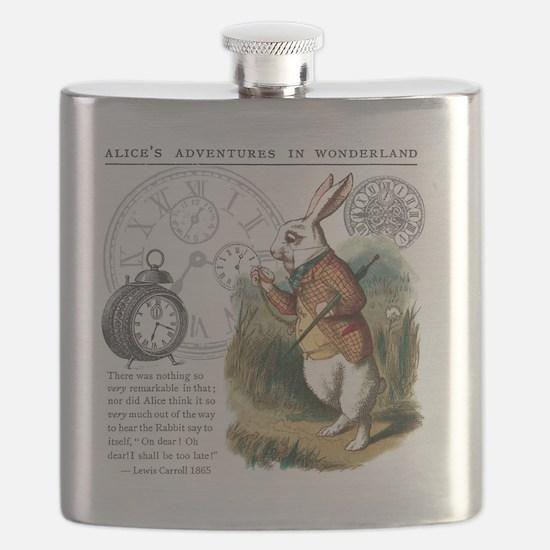 The White Rabbit Alice in Wonderland Puzzle  Flask