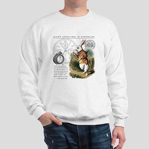 The White Rabbit Alice in Wonderland Pu Sweatshirt