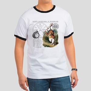 The White Rabbit Alice in Wonderland Puzz Ringer T