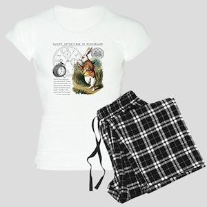 The White Rabbit Alice in W Women's Light Pajamas