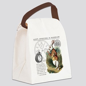 The White Rabbit Alice in Wonderl Canvas Lunch Bag