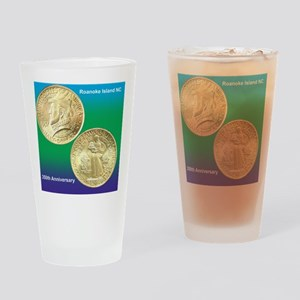 Roanoke Island NC 350th Anniversary Drinking Glass