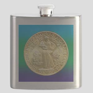 Roanoke Island NC 350th Anniversary Half Dol Flask