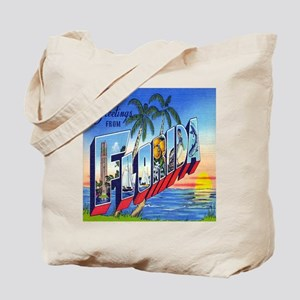 Vintage Greetings from Florida Postcard Tote Bag