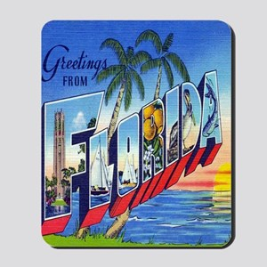 Vintage Greetings from Florida Postcard Mousepad
