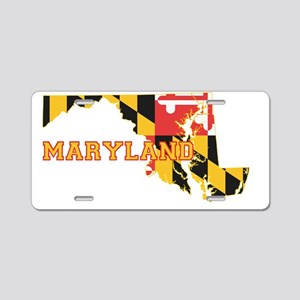 Maryland state Flag and Map Aluminum License Plate
