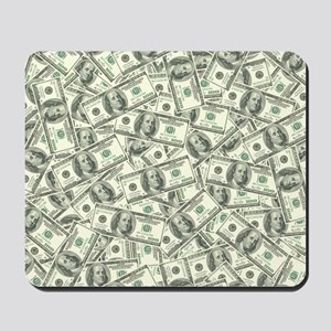 100 Dollar Bill Money Pattern Mousepad