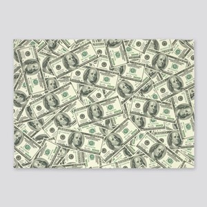 100 Dollar Bill Money Pattern 5'x7'Area Rug