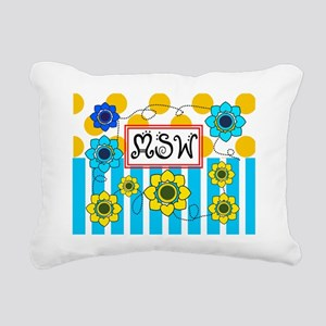 LSW MSW 3 Rectangular Canvas Pillow