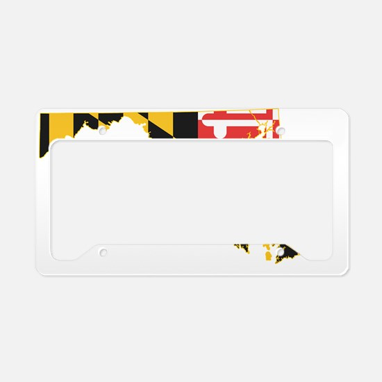Maryland state Flag and Map License Plate Holder