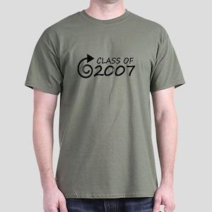 Class of 2007 swirl Dark T-Shirt