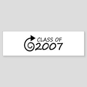 Class of 2007 swirl Bumper Sticker