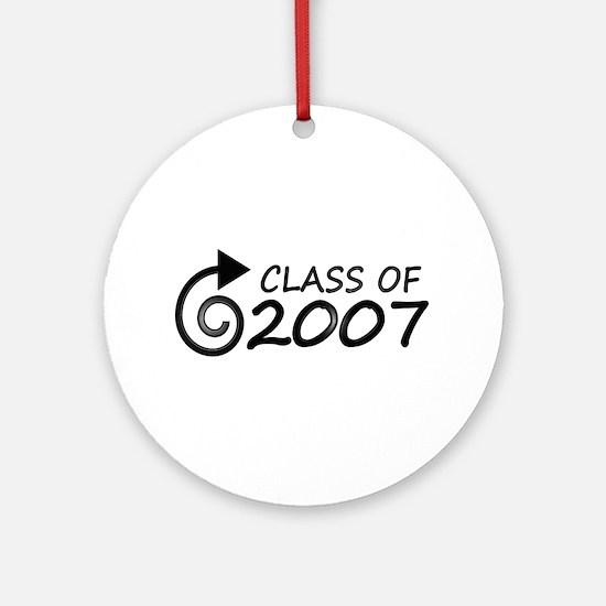 Class of 2007 swirl Ornament (Round)