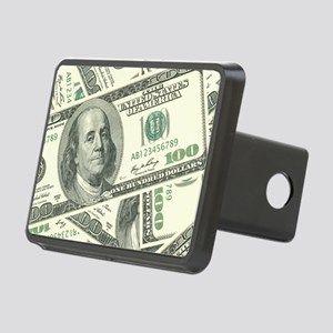 100 Dollar Bill Money Patt Rectangular Hitch Cover
