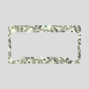 100 Dollar Bill Money Pattern License Plate Holder