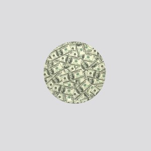 100 Dollar Bill Money Pattern Mini Button
