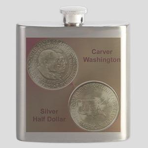 Carver/Washington Half Dollar Coin  Flask