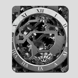 Clockwork Silver Mousepad