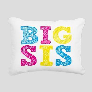 Multi-Colored Big Sis Rectangular Canvas Pillow