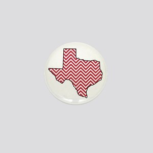 Texas Red Chevron Mini Button