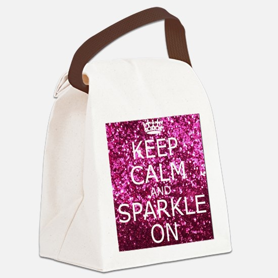 Keep Calm and Sparkle On Canvas Lunch Bag