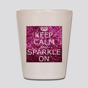 Keep Calm and Sparkle On Shot Glass