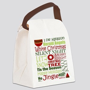 Christmas Subway Art Canvas Lunch Bag
