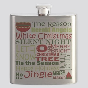 Christmas Subway Art Flask