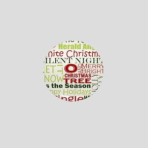 Christmas Subway Art Mini Button