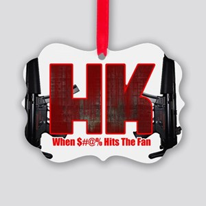 HK- When $#^% Hits The Fan Picture Ornament