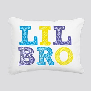 Sketch Lil Bro Rectangular Canvas Pillow