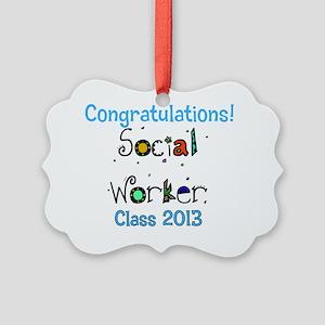 social worker grad congrats Picture Ornament