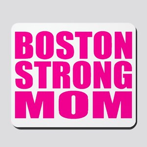 Hot Neon Pink Boston Strong Mom Mousepad