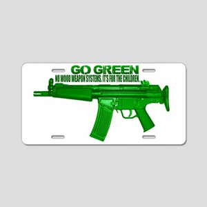 Go Green. No Wood Stocks! Aluminum License Plate