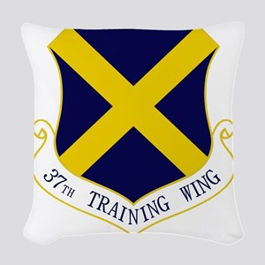 37th Training Wing Woven Throw Pillow